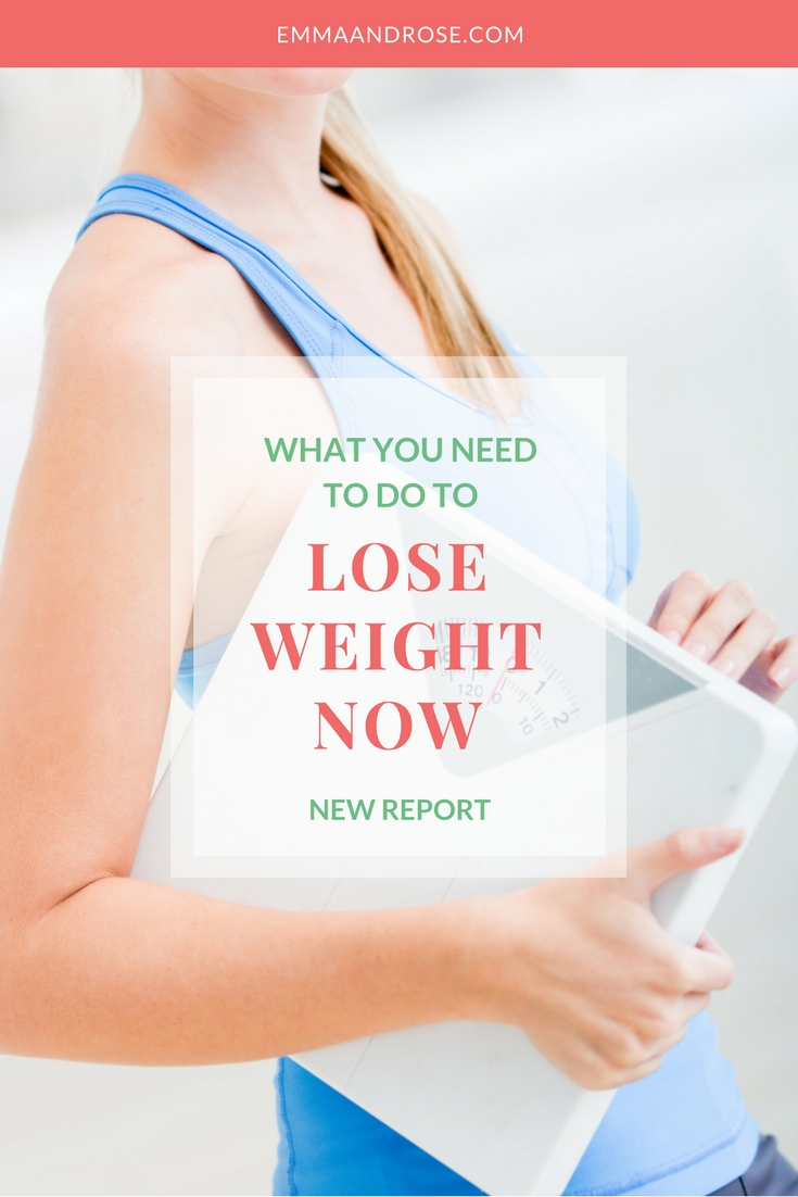 What You Need To Do To Lose Weight Now