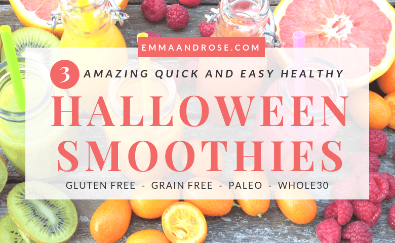 3 Amazing Quick and Easy Healthy Halloween Smoothies