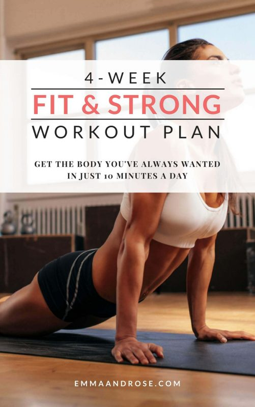 4-Week Fit & Strong Workout Plan - Cover