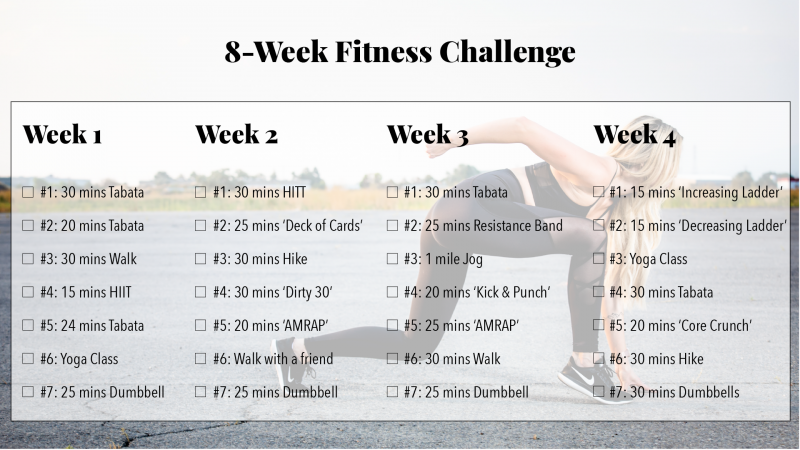8 week workout routine