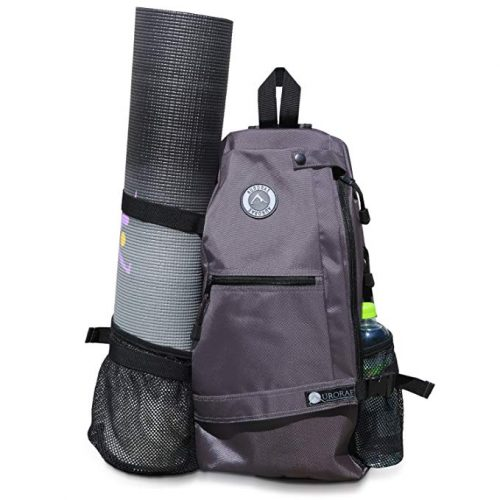Aurorae Yoga Mat Bag. Multi-Purpose Cross-Body Sling Back Pack