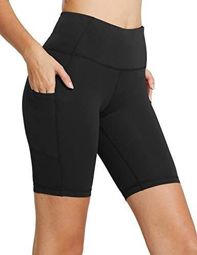 Baleaf Womens High Waist Compression Shorts