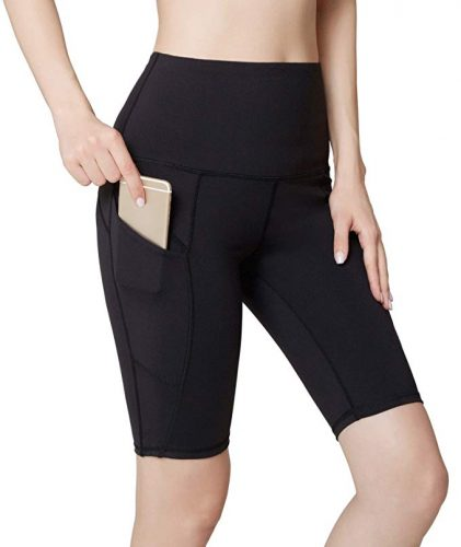 Oalka Womens High Waist Running Shorts