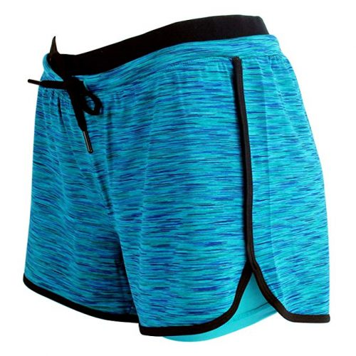 RIBOOM Womens Fitness Running Shorts