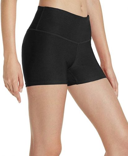 TSLA Womens Yoga Shorts