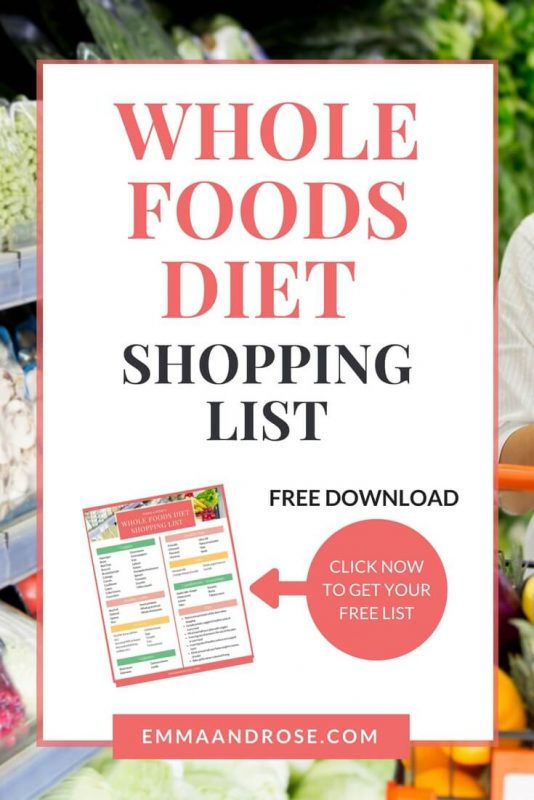 Whole Foods Diet Shopping List