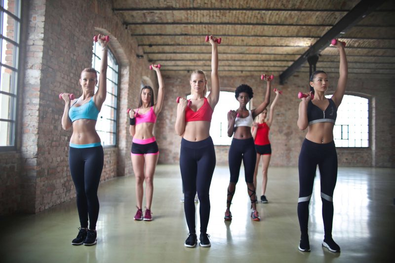 group of women workout