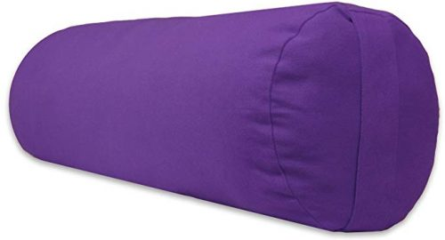 YogaAccessories Supportive Round Yoga Bolster