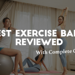 three women with exercise ball